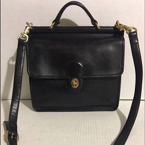 Coach Vintage Black leather crossbody handbag